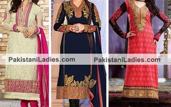 Brides Galleria Party Wear Stylish Salwar Kameez Punjabi Suit 2015