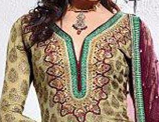 Cotton Churidar Suit Neck Gala Designs Patterns Images 2015