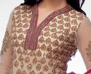 Cotton Churidar Suits Neck Gala Designs Patterns Images 2015 Free Download