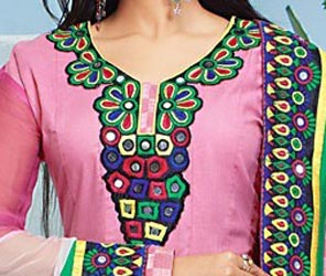 Cotton Churidar Suits Neck Gala Designs Patterns Images Frocks 2015