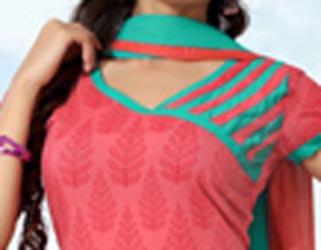 Cotton Churidar Suits Neck Gala Designs Patterns Images Salwar Kameez
