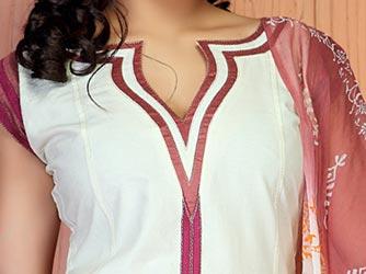 Cotton Churidar Suits Neck Gala Designs Patterns Images Shirt Catalog