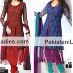 Dazzling Double Open Anarkali Jacket Suits Shirts Salwar Kameez