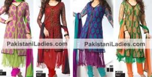 Dazzling Double Open Net Anarkali Style Jacket Suits, Shirts Salwar Kameez