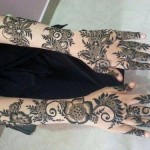 Khaleeji Henna Mehndi Designs for Hands Dubai UAE Gulf Style