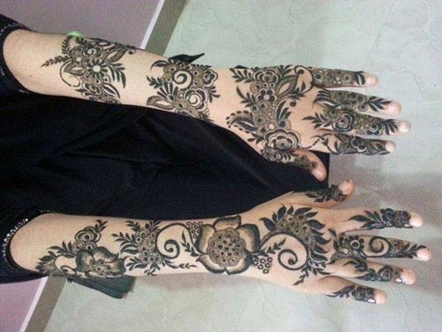 Dubai Mehndi Patterns : Khaleeji henna mehndi designs for hands dubai uae gulf style pakistaniladies