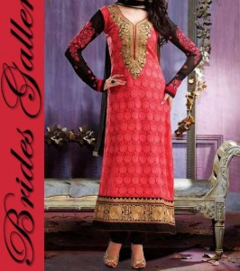 Exclusive Colorful Beaiutiful Brides Galleria Party Wear Stylish Salwar Kameez Punjabi Suit Dress India 2015 Red Black Designs