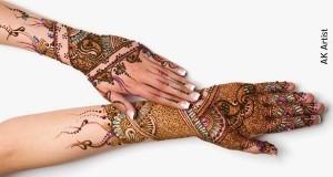 Facebook Fancy Bridal Henna Mehndi Designs 2015 for Full Hands Wedding Eid Party Indian