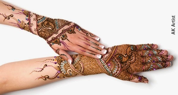 Facebook Fancy Bridal Henna Mehndi Designs 2015 for Full Hands Wedding Eid Party Indian