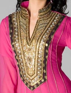 Chinese Collar Neck Designs 2017 For Kurti Shirt Kameez Salwar