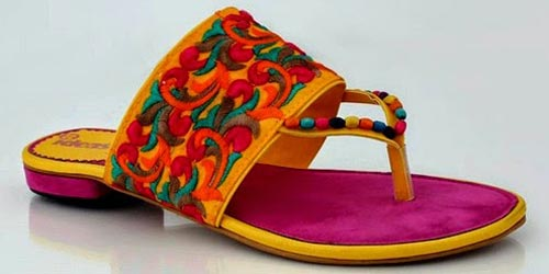 Fancy-Gul-Ahmed-Ideas-2015-Women-Shoes-Chappal-Slippers
