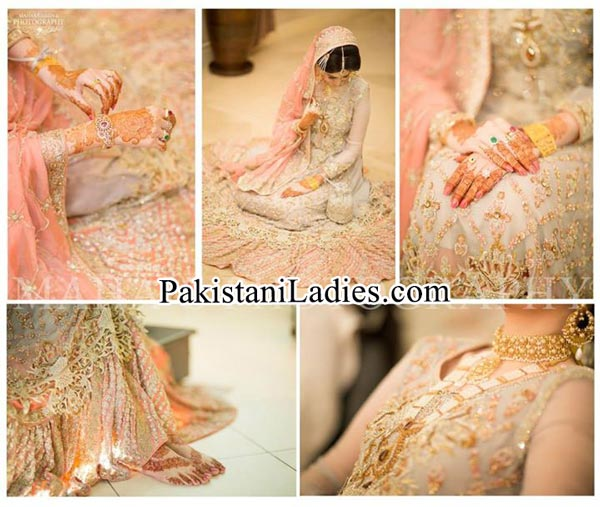 Fashion Latest Bride Wearing Gold Jewelry Sets Designs Mehndi 2015 Pics Ideas Pakistan India Dubai US UK Necklace Earring Bangles Finger Rings