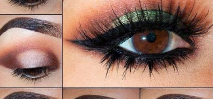 Bridal eyes makeup step