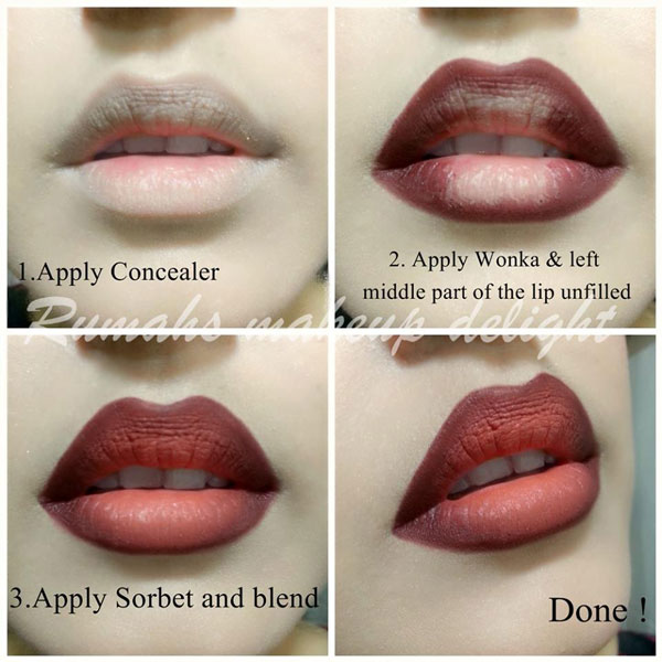 how to do ombre lips makeup tutorial step by step picture