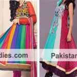 Multicolor Panel Frocks Colourful Wedding Dresses India