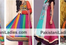 India Fancy Multicolor Panel Frocks Colourful Wedding Dresses 2015 Wedding, Engagement, Party