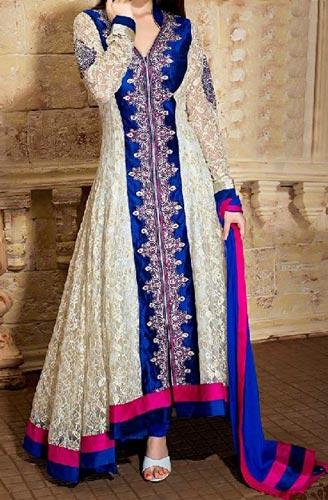 Fashionable colorful dresses shirts frock salwar kameez for How to design salwar kameez at home