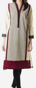 Khaadi Khaas Cloth Winter 2015 Prices Women Kurta Kurtis Long Shirts PKR-4,500