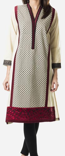 Khaadi Khaas Cloth Winter 2015 Prices Women Kurta Kurtis Long Shirts PKR-4,500