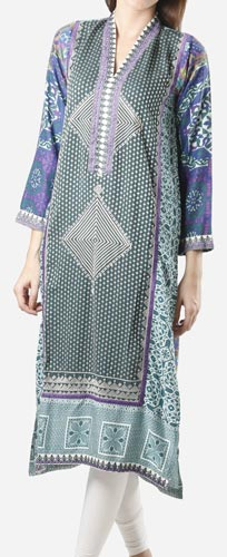 Khaadi Khaas Cloth Winter 2015 Prices Women Kurta Kurtis Long Shirts PKR-6,000