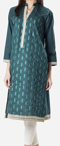 Khaadi Khaas Cloth Winter 2015 Prices Women New Girls Kurta Kurtis Long Shirts -4500