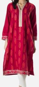 Khaadi Khaas Cloth Winter 2015 Prices Women New Girls Kurta Kurtis Long Shirts 5000