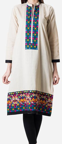 Khaadi Khaas Cloth Winter 2015 Prices Women New Girls Kurta Kurtis Long Shirts PKR-2,800