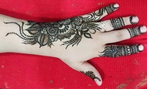 Khaleeji Henna Mehndi Designs For Hands Dubai UAE Gulf Style