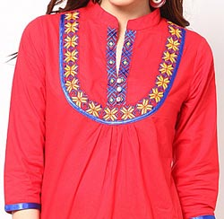Lace-Chinese-Collar-Neck-Gala-Designs-Style-2015-for-Kurtis-Shirts-Salwar-Kameez-Embroidered