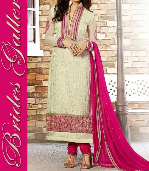 Latest Trendy Beaiutiful Brides Galleria Party Wear Stylish Salwar Kameez Punjabi Suit Dress India 2015 Green Blue Designs