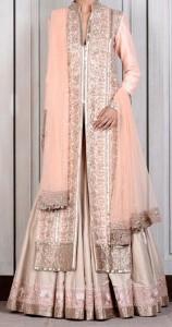 Lehenga Choli Manish Malhotra Bridal Dresses Collection 2015 Wedding Open Frock