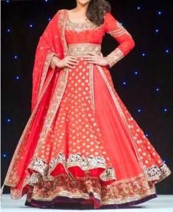 Manish Malhotra Bridal Dresses Collection 2015 Wedding Frock Kalidar