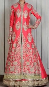 Manish Malhotra Bridal Dresses Collection 2015 Wedding Long Open Frock Shirt