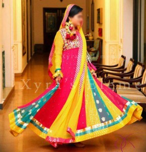Mehndi-Fashionable-Colorful-Dresses-Plates-Wali-Shirts-Frock-Kameez
