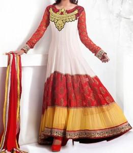 Multi Colors Kalidar Suits, Kaliyon Kali Wali Frocks Designs 2015 Pakistan India Fashion