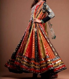 Multicolor anarkali Kalidar Suits, Kaliyon Kali Wali Frocks Designs 2015 Pakistan India