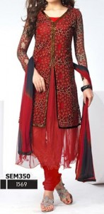 Net-Dazzling-Jacket-Double-Open-Anarkali-Shirts-Suits-Winter-Collection-2015