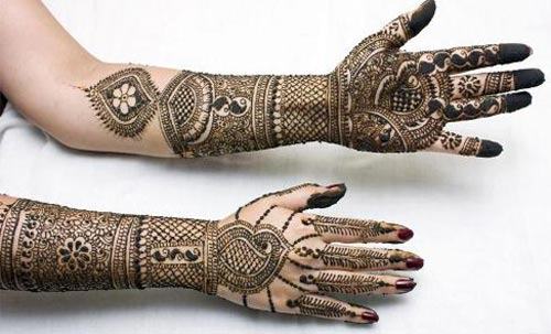 New Dulhan Mehndi Hands Designs Pics Images Wallpaper Free Download