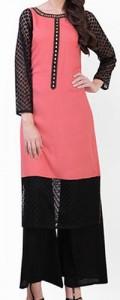New Plazo Pants Trousers 2015 Dress Designs Stylish Palazzo Long Shirts for Girls Pakistan