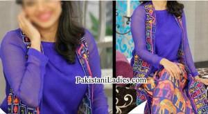 Open Gown Pakistani Actress Sanam Jung Dresses Pics Jago Pakistan Hum TV Show 2015