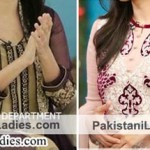 Hum TV Pakistani Actress Sanam Jung Dresses Designs 2015