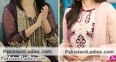 Pakistani Actress Sanam Jung Dresses Pics Jago Pakistan Hum TV Show 2015 in Morning Show