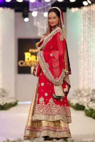 Punjabi Bridal Wedding Dress Suits 2015 India Lehenga Choli Long