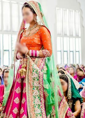Punjabi Bridal Wedding Suits 2015 India Lehenga Choli