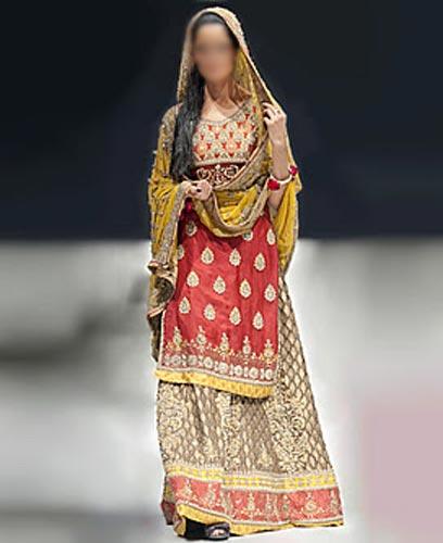 Punjabi Bridal Wedding Suits 2015 India Lehenga Choli Long Shirt