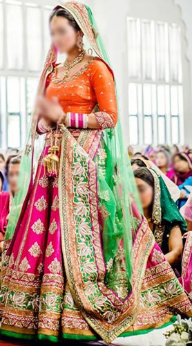 punjabi bridal wedding suits indian lehenga choli dress