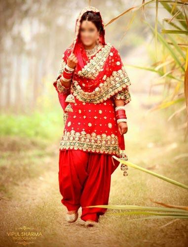 Punjabi Bridal Wedding Suits 2015 India Salwar Kameez Patiala