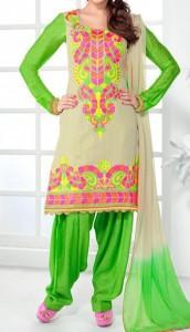 Punjabi-Salwar-Kameez-Suits-2015-for-Girls-in-India-Neck-Designs-Short-Kurti