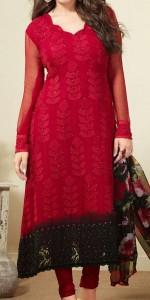 Red Beautiful Plus Size Healthy Women over weight Fat Ladies Pakistani Indian Dresses Shalwar Kameez Suit