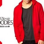 Red BnB Men Boys Hoodies Winter 2015 Stylish New Arrival Zip Up Pull Over Prices Pakistan